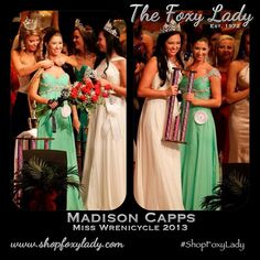 A HUGE Congrats to Madison Capps, your NEW Miss Wrenicycle 2013!!!! Here she is being crowned in her Foxy Lady Gown by her two best friends Reagan Foster (wearing Foxy Lady gown) and Miss MAOT Rachel Wyatt! Madison also won the Evening Gown Award! We are so so happy for you Madison! This is a huge honor and you will represent Wren High School wonderfully! #crown #pageant #evening #gown #winner #MadisonCapps #MissWrenicycle2013 #ReaganFoster #RachelWyatt #MAOT #ShopFoxyLady