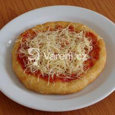 Langoše ze zakysané smetany recept - Vareni.cz Vegetable Pizza, Spaghetti, Food And Drink, Vegetables, Ethnic Recipes, Vegetable Recipes, Vegetarian Pizza, Noodle, Veggies