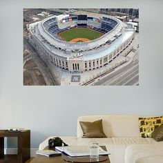 Yankee Stadium Aerial Mural REAL.BIG. Fathead Wall Graphic | New York Yankees Wall Decal | Sports Home Decor | Baseball Bedroom/Man Cave/Nursery
