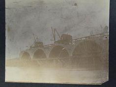 Construction of Shock's Mill Bridge