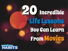 Inspirational movie quotes. Life lesson quotes from movies.  Motivational quotes -- http://www.slideshare.net/stevescottsite/20-incredible-life-lessons-you-can-learn-from-movies