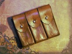 Vintage Leather Belt Pouch  Great for by CuriosityShopper on Etsy, $38.00