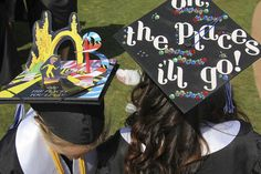 Dr. Seuss - Oh the Places I'll Go! Decorated mortar board/graduation cap - Cal State San Marcos #CSUSM13 | Flickr