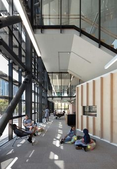 The first of a wave of vertical schools planned for Melbourne, South Melbourne Primary School, designed by Hayball, has opened to students. School Rings, School Plan, Famous Buildings, School Architecture, Source Of Inspiration, Primary School, Building Design, Melbourne, Victoria