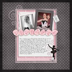 Dance layouts | scrapbook dance layout - ballet