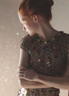 Johanna Fosselius - 'Modern Enlightenment' photographed by Ola Rindal for SZ #8. Dress: Dolce and Gabbana S/S 2012.