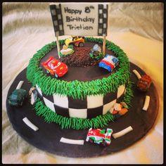 Cars, race track cake