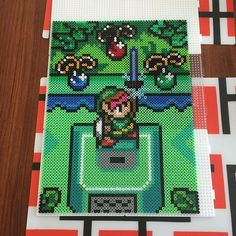 Legend of Zelda scene perler beads by cocomademosielle