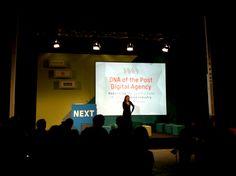 """NEXT 2012: Tag 1, Vortrag """"DNA of the Post Digital Agency""""  #hmmh #next12"""