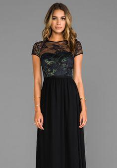 ERIN erin fetherston Peyton Gown in Black