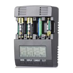 Opus BT-C2000 LCD Intelligent Battery Charger for AA/AAA Battery with US/EU Plug