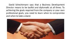 David Schechtmann | How to become a Business Development Director