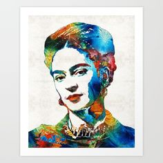 #fridakahlo #frida Collect your choice of gallery quality Giclée, or fine art prints custom trimmed by hand in a variety of sizes with a white border for framing.