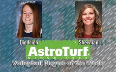 USCA's Diedrich, Armstrong's Sherman Named PBC Volleyball AstroTurf Players of the Week