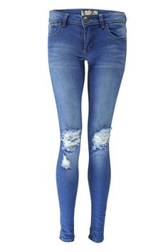 7319aaa27db1 Loren Distressed Rip Knee Skinny Jeans Petite Skinny Jeans, Super Skinny  Ripped Jeans, Ripped