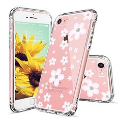 iPhone 7 Case, iPhone 7 Clear Case, MOSNOVO Pink Cherry Blossom Floral Printed Flower Clear Design Transparent Plastic Hard Back with TPU Bumper Gel Protective Case Cover for Apple iPhone 7 (4.7 Inch)