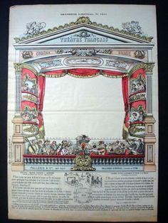 Pellerin Imagerie D'Epinal-Theatre Francais Sheet No 1541 Paper Theatre Inv1746 #PellerinImagerieDEpinal