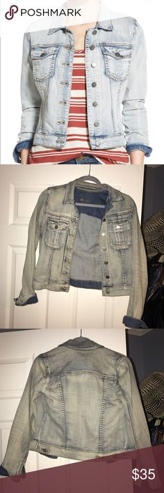 Kut from the Kloth 'Helena' jean jacket Really cute light wash jean jacket, in excellent condition! Link to jacket at Nordstroms: http://m.shop.nordstrom.com/s/kut-from-the-kloth-helena-denim-jacket-sweet/4275249?cm_mmc=google-_-productads-_-Women%3AJacket_Sportcoat%3AJacket-_-5109783&rkg_id=h-95f14cc487e92243c8ecd3b0ad59fc30_t-1482038659&adpos=1o4&creative=57185652593&device=m&network=g&gclid=CLPnyZ6A_dACFZSEfgodXgkG-w Kut from the Kloth Jackets & Coats Jean Jackets