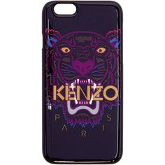 Kenzo Burgundy Tiger iPhone 6 Case ($47) ❤ liked on Polyvore featuring accessories, tech accessories, burgundy and kenzo