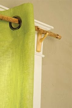tree branch curtain rods, no instructions