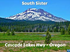 A view of South Sister peak along Cascade Lakes Highway - Cascade Range - near Bend, OR Travel Bugs, Mount Rainier, Lakes, Oregon, Sisters, Outdoors, Range, Mountains, Nature