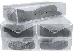 Free 2-day shipping on qualified orders over $35. Buy Greenco Clear Foldable Boot Storage Boxes-5 Pack at Walmart.com Indoor Bike Storage, Boot Storage, Storage Boxes, Brown Converse, Dry Erase Markers, Packing, Contents, Mini, Boots