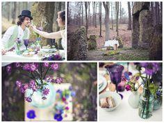 shooting mauve & mint sur avec les fleurs de http://wildflowerfairy.com/ et photos de http://deceuelodie.wix.com/elodiedphoto