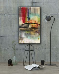 ABSTRACT ART Canvas Print of Never Say Never