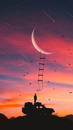 Imagen de moon and sky