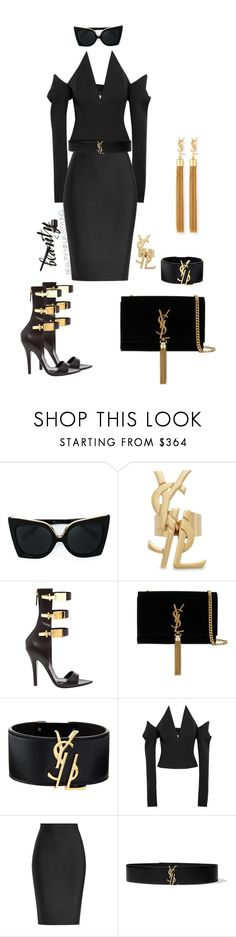 """YSL ~ Styled by @beauty_ninja_styling"" by beautyninjastyling ❤ liked on Polyvore featuring N°21, Yves Saint Laurent, Anthony Vaccarello and Roland Mouret"