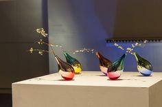 Delicate Vases Swinging as Petals Fall by Keisuke Fujiwara