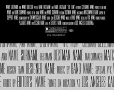 Movie Poster Credits Typography