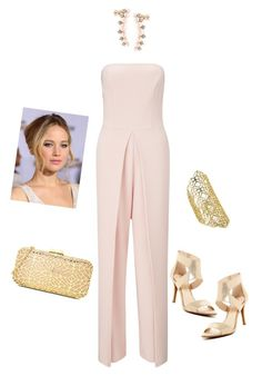 """""""Stunning in Shell Pink"""" by styl-i-sique on Polyvore featuring Miss Selfridge, Carolee, Jessica Simpson, Love Moschino and Kendra Scott"""