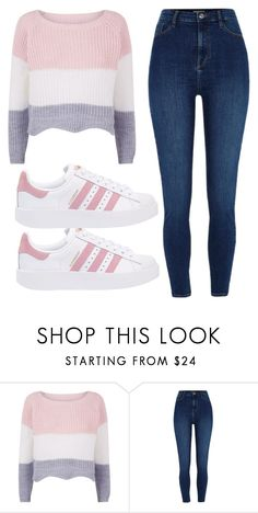 """Untitled #24"" by evelinefeitosaneres on Polyvore featuring River Island and adidas Originals"