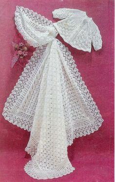 Baby Matinee Jacket and Christening Shawl instructions for