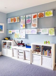 Create a children's zone that makes kids feel as though it's their realm, an environment where they are free to play, make a mess and color on the walls without getting a time-out.