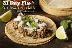 21 Day Fix Pork Carnitas for the Crock Pot + 21 Day Fix Recipe Group --> https://www.fb.com/groups/21dayfixrecipeideas/