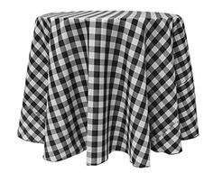 Ultimate Textile (3 Pack) 108 Inch Round Polyester Gingham Checkered  Tablecloth U2013 For