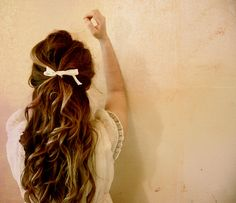love the bow and the curls and the long hair and the color