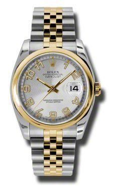 Rolex - Datejust 36mm - Steel and Gold Yellow Gold - Domed Bezel - Jubilee #116203SCAJ