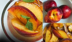 Peaches in Moscato- kind of a cross between a dessert and a cocktail. This amazing recipe inspires me to Practice the Art of Fine Food. Thanks, S.Pellegrino! Photo contributed by Not without Salt