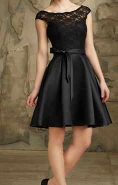 Black back-to-school dress, cheap homecoming gown, sexy party