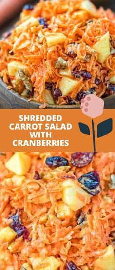 This easy-to-make, flavorful, and healthy Shredded Carrot Salad — packed with cranberries, apples, and toasted walnuts — is loved by both kids and adults! FOLLOW Cooktoria for more deliciousness! If you try my recipes - share photos with me, I ALWAYS check!