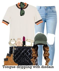 """"""""""" by trillest-queen ❤ liked on Polyvore featuring Monki, Smashbox, Movado, Ileana Makri, Chanel, Timberland, Ray-Ban, women's clothing, women and female"""