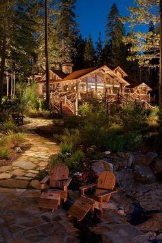 Log Cabin, Big Sky, Montana photo via colleen