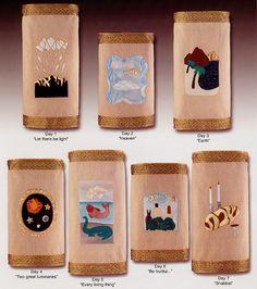 The Seven Days of Creation Torah Covers by Original Design Huppah.