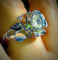 Romantická duša/Romantic soul Stone Gold, Handmade Jewelry, Silver Rings, Romantic, How To Make, Stones, Things To Sell, Fashion, Moda