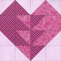 This is one of the most beautiful heart quilt blocks you can make for a quilt and it uses two color prints. Pink circle print, pink floral tonal and lily mottle