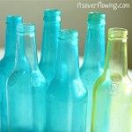 3 ingredients to tint bottles/glass jars!