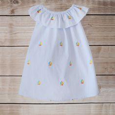 7/16/2013  Embroidered Sailboat Seersucker Flutter Dress